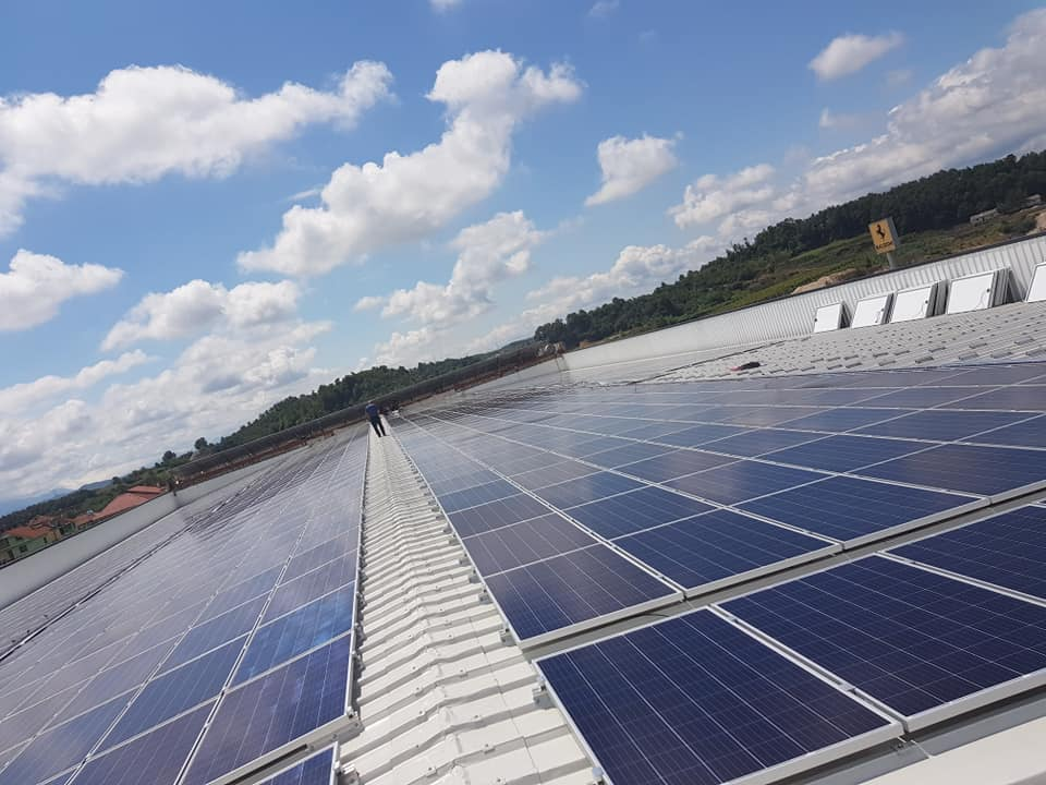 320 KW self production pv project on an industrial roof finished from Ecoenergia in Albania